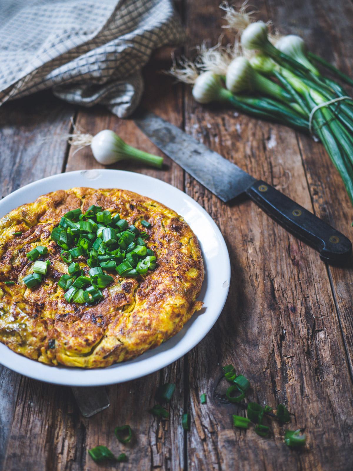 Omelette cebettes