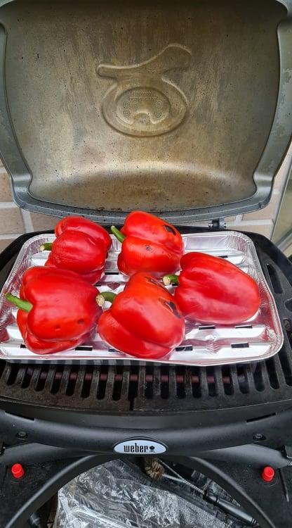poivrons grillés au barbecue