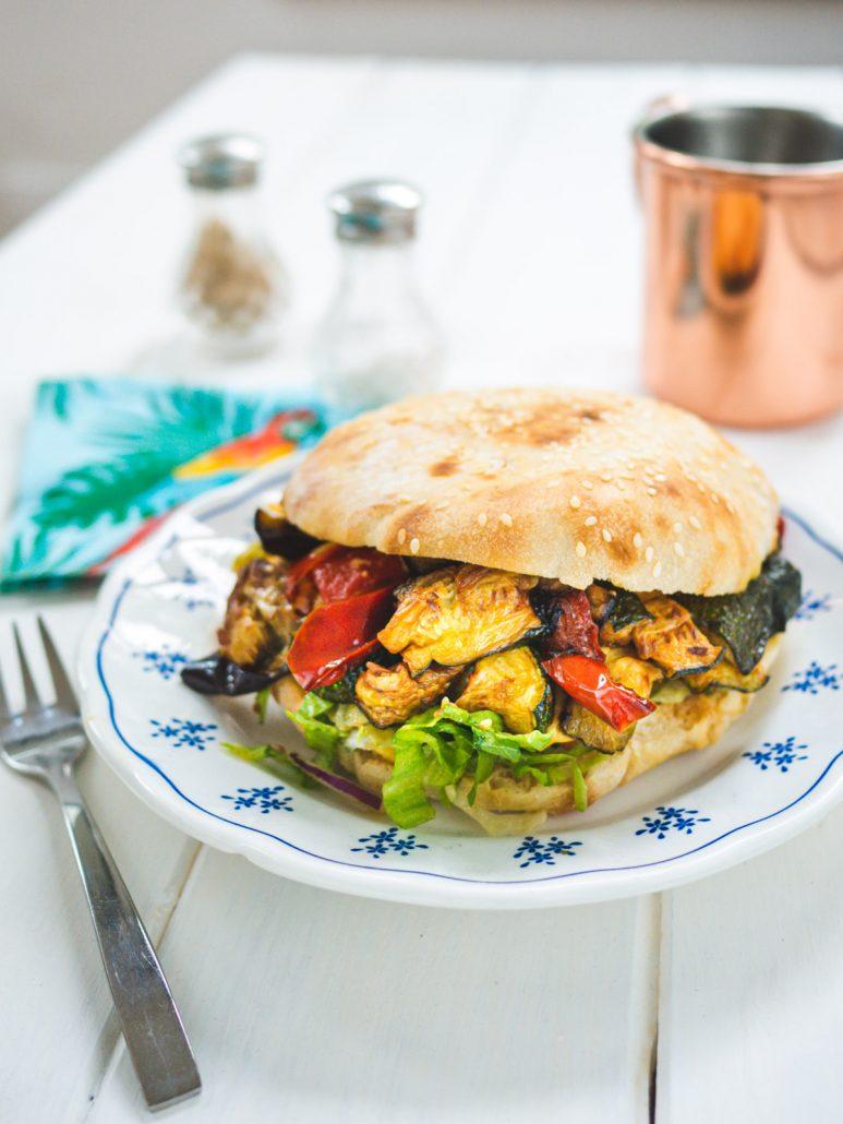 sandwich aux légumes grillés