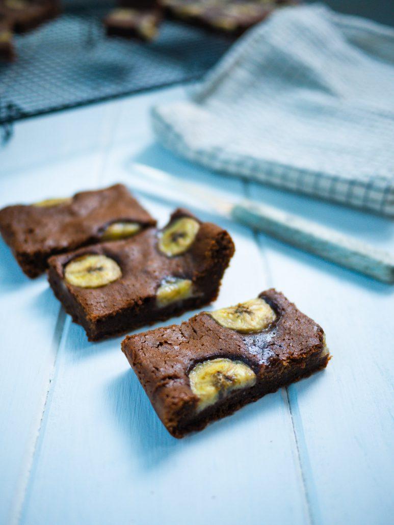 Brownie chocolat banane