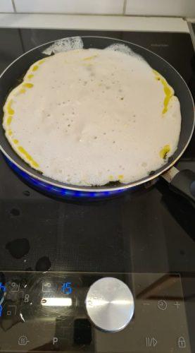 cuisson socca à la poêle