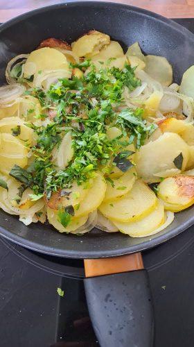 faire une frittata pommes de terre