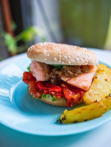burger saumon