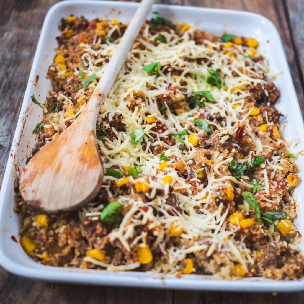 Gratin quinoa à la Mexicaine